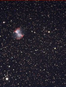 M27 from a stack of 14 x 20 second Ultrastar C frames in Starlight Live. Taken with a Takahashi FSQ106 at F5