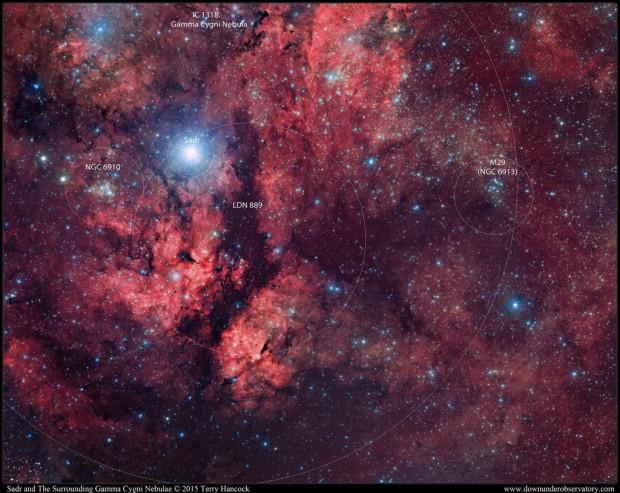 QHY11-Sadr and The Surrounding Gamma Cygni Nebula 2015 Terry Hancock