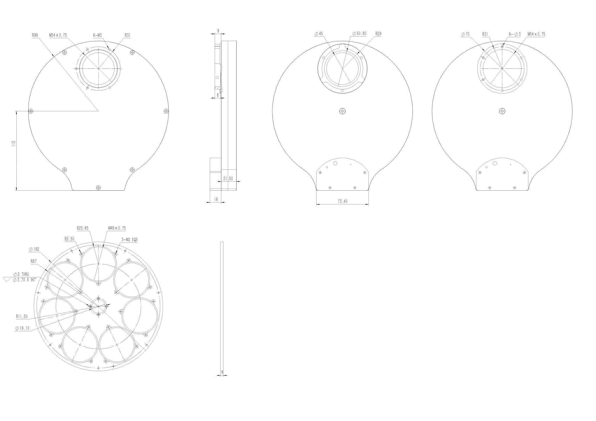 QHYCFW3-L Measurements